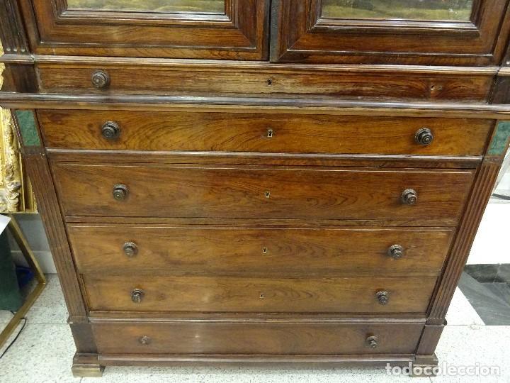 Antigüedades: Mueble inglés estilo Jorge III, S.XIX en madera de palosanto y roble en el interior - Foto 26 - 185701417