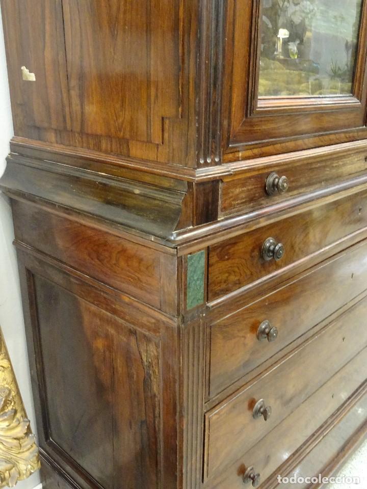 Antigüedades: Mueble inglés estilo Jorge III, S.XIX en madera de palosanto y roble en el interior - Foto 27 - 185701417