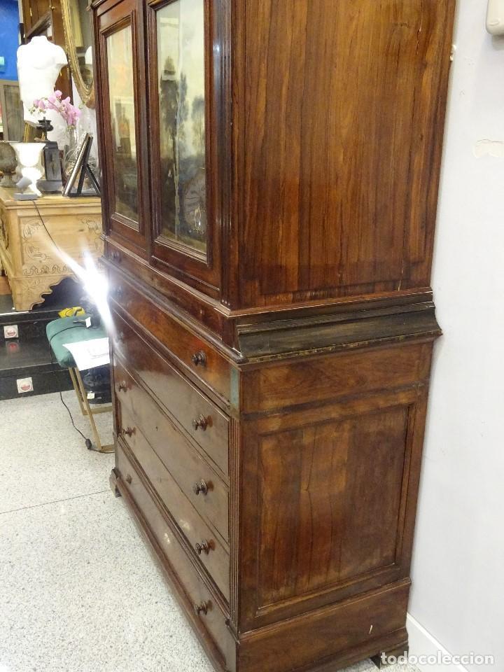 Antigüedades: Mueble inglés estilo Jorge III, S.XIX en madera de palosanto y roble en el interior - Foto 29 - 185701417