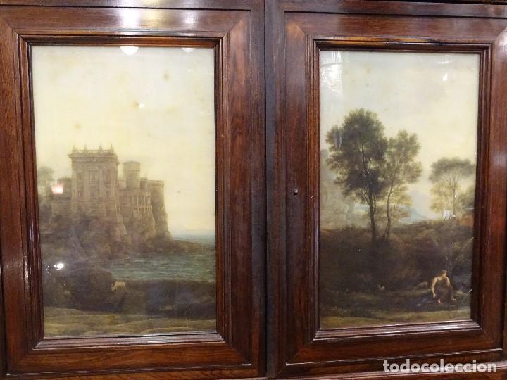 Antigüedades: Mueble inglés estilo Jorge III, S.XIX en madera de palosanto y roble en el interior - Foto 30 - 185701417