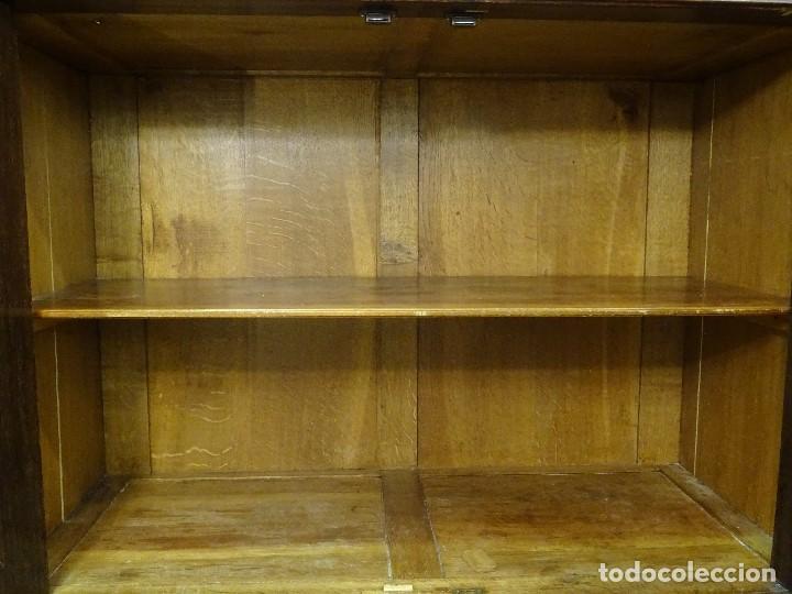 Antigüedades: Mueble inglés estilo Jorge III, S.XIX en madera de palosanto y roble en el interior - Foto 32 - 185701417