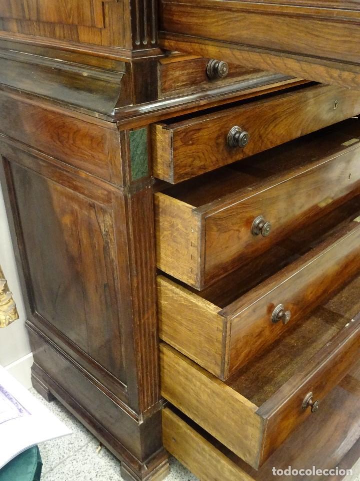 Antigüedades: Mueble inglés estilo Jorge III, S.XIX en madera de palosanto y roble en el interior - Foto 38 - 185701417