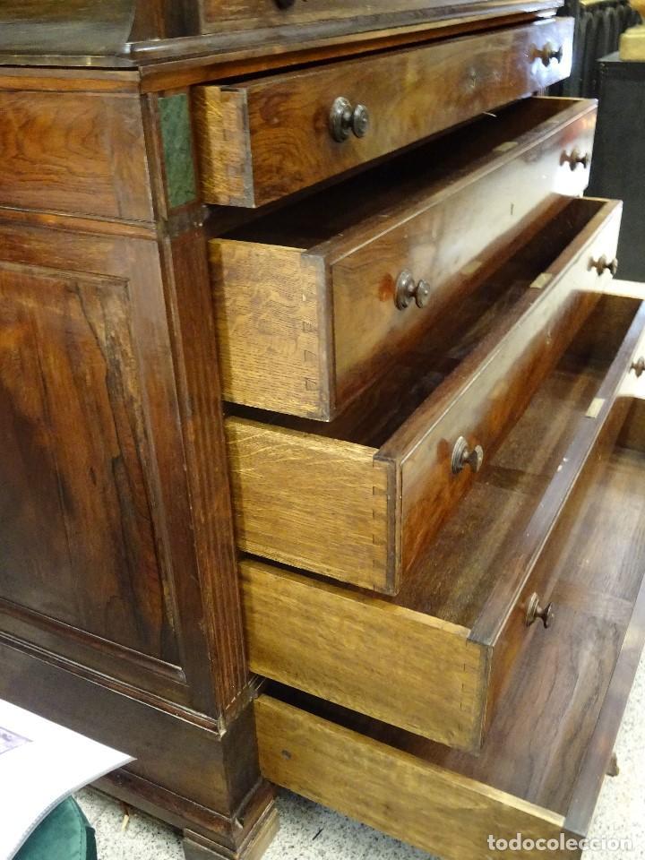 Antigüedades: Mueble inglés estilo Jorge III, S.XIX en madera de palosanto y roble en el interior - Foto 39 - 185701417