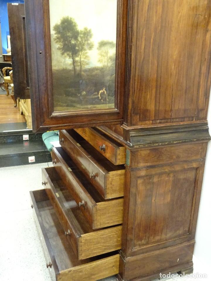 Antigüedades: Mueble inglés estilo Jorge III, S.XIX en madera de palosanto y roble en el interior - Foto 40 - 185701417