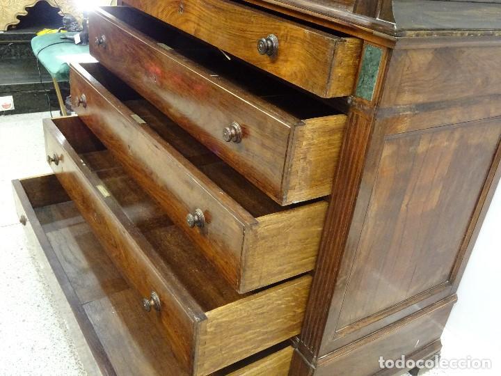 Antigüedades: Mueble inglés estilo Jorge III, S.XIX en madera de palosanto y roble en el interior - Foto 41 - 185701417