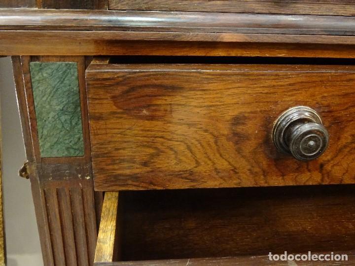 Antigüedades: Mueble inglés estilo Jorge III, S.XIX en madera de palosanto y roble en el interior - Foto 42 - 185701417