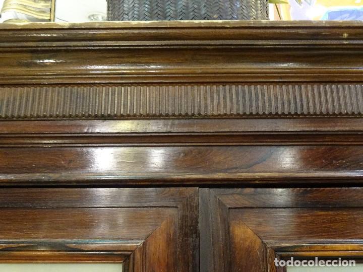 Antigüedades: Mueble inglés estilo Jorge III, S.XIX en madera de palosanto y roble en el interior - Foto 46 - 185701417