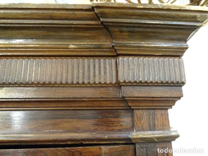 Antigüedades: Mueble inglés estilo Jorge III, S.XIX en madera de palosanto y roble en el interior - Foto 47 - 185701417