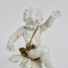 Antigüedades: ANGEL DE PORCELANA ESPAÑOLA DE ALGORA. S.XX.. Lote 185715442