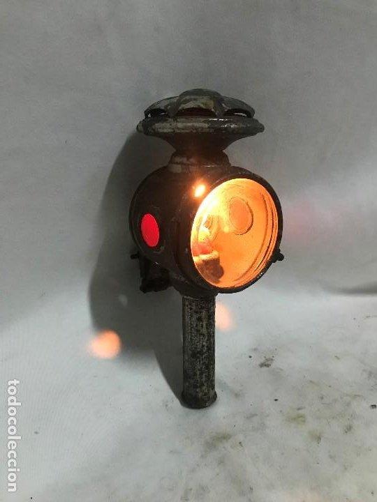 FAROL DE BICI Y CARRO (Antigüedades - Iluminación - Faroles Antiguos)