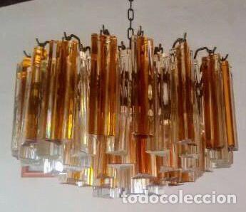 LÁMPARA MURANO PAOLO VENINI AÑOS 50 ITALIA (Antigüedades - Iluminación - Lámparas Antiguas)