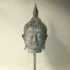 Antigüedades: BUDA THAI DE BRONCE DE FUNDICIÓN. Lote 185720753