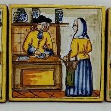 Antigüedades: AZULEJOS ARTE Y OFICIOS DE FARMACIA O APOTECARIO (M.S.XX) . Lote 185725427