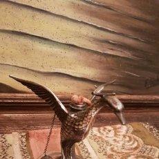 Antigüedades: CALIENTA COPAS ANTIGUO DE ALPACA SELLADO.. Lote 185740497