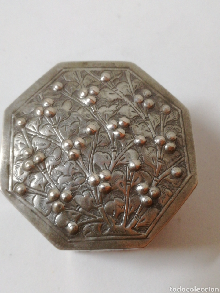 Antigüedades: Antiguo tarro chino de plata. Siglo xix - Foto 2 - 185743747