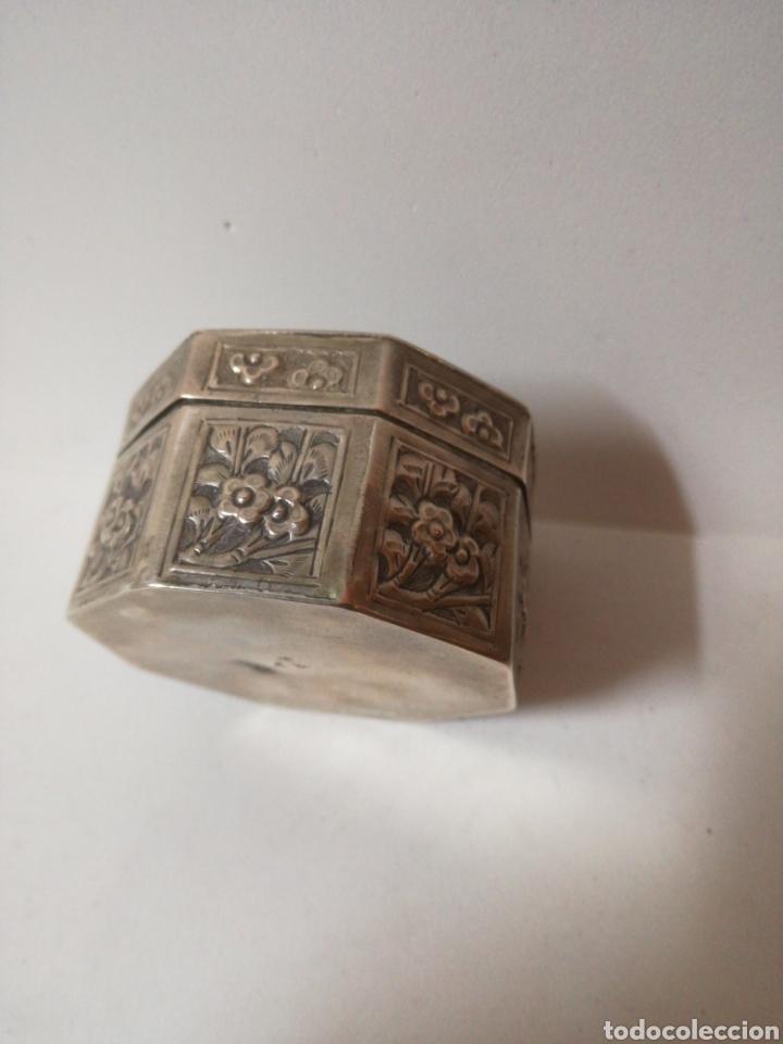Antigüedades: Antiguo tarro chino de plata. Siglo xix - Foto 4 - 185743747