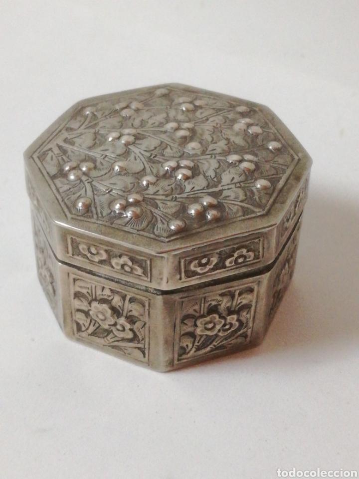 Antigüedades: Antiguo tarro chino de plata. Siglo xix - Foto 9 - 185743747