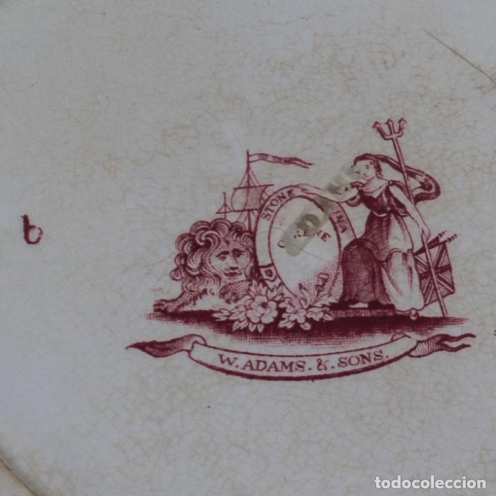Antigüedades: Plato porcelana S.XIX - Adams & Sons - Foto 3 - 185747243