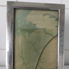 Antigüedades: ANTIGUO MARCO DE FOTOS, PARECE PLATA O ALGÚN METAL PLATEADO. 21,8 X 13,8 CM.. Lote 185747910