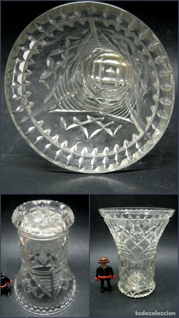 Antigüedades: ANTIGUO JARRON CRISTAL PRENSADO - Foto 2 - 185769948