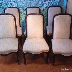Antigüedades: 6 SILLAS DE CAOBA LUIS FELIPE DEL SIGLO XIX. Lote 185775931