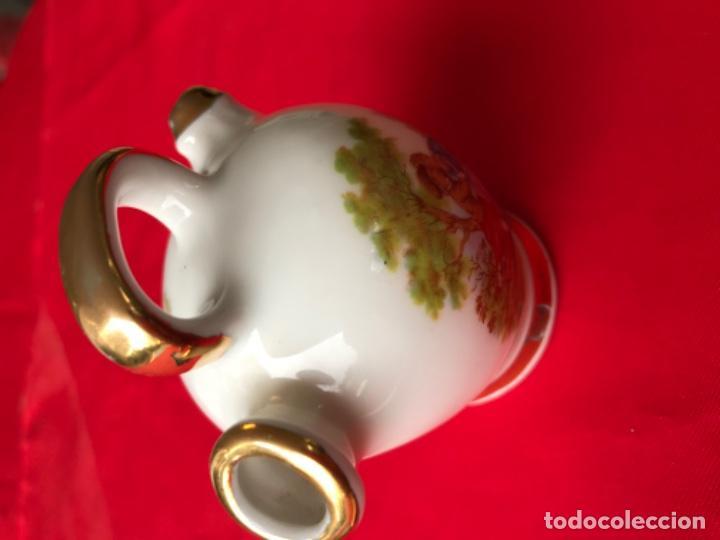 Antigüedades: Botijo miniatura porcelana puchades valencia 8,5 cm - Foto 3 - 185785336