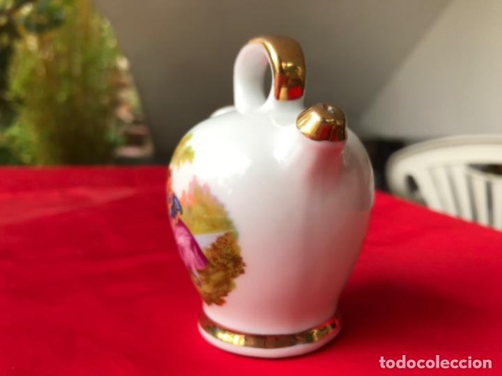 Antigüedades: Botijo miniatura porcelana puchades valencia 8,5 cm - Foto 5 - 185785336