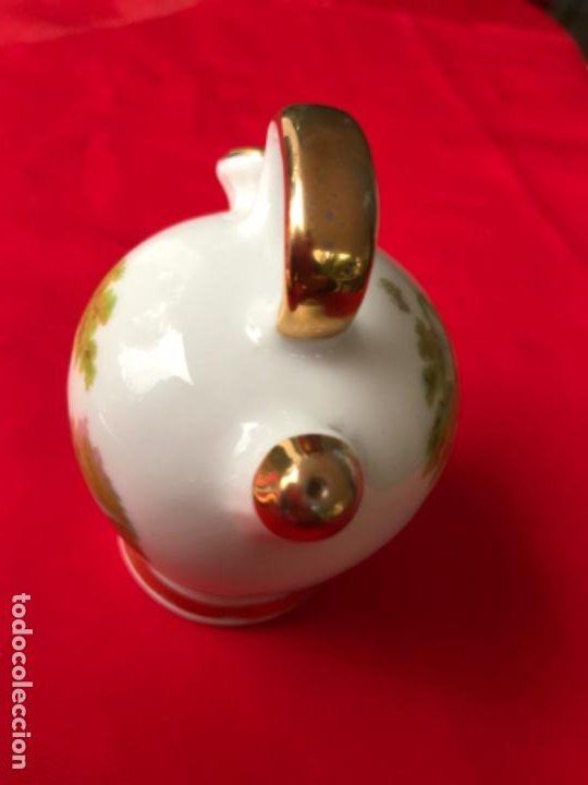 Antigüedades: Botijo miniatura porcelana puchades valencia 8,5 cm - Foto 6 - 185785336