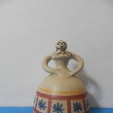 Antigüedades: CAMPANA DE CERAMICA CON FORMA DE MUJER. Lote 185887471