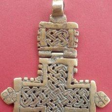 Antigüedades: CRUZ COPTA ARTICULADA DE BRONCE S. XIX. DIMENSIONES.- 9.750X6 CMS. 37 GRAMOS. . Lote 185923541