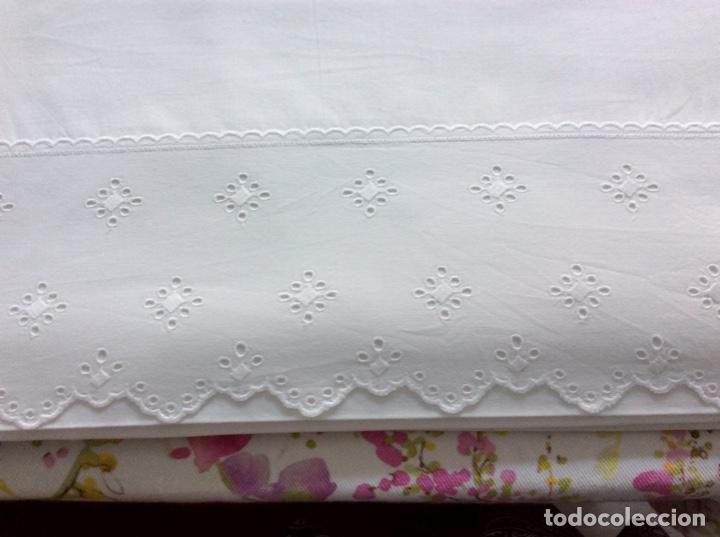 Antigüedades: 2 juegos de sábanas con tira bordada años 70. Impecables - Foto 6 - 185930241