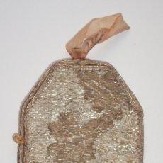 Antigüedades: RELICARIO TEXTIL. SIGLO XIX. CON RELIQUIAS DE LOS SANTOS: VENITO, LUCÍA, VICENTE Y ÚRSULA.. Lote 185935498