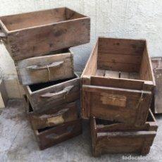 Antigüedades: EN VENTA LOTE DE CAJAS DE MADERA ANTIGUAS DE USO INDUSTRIAL. Lote 185953762
