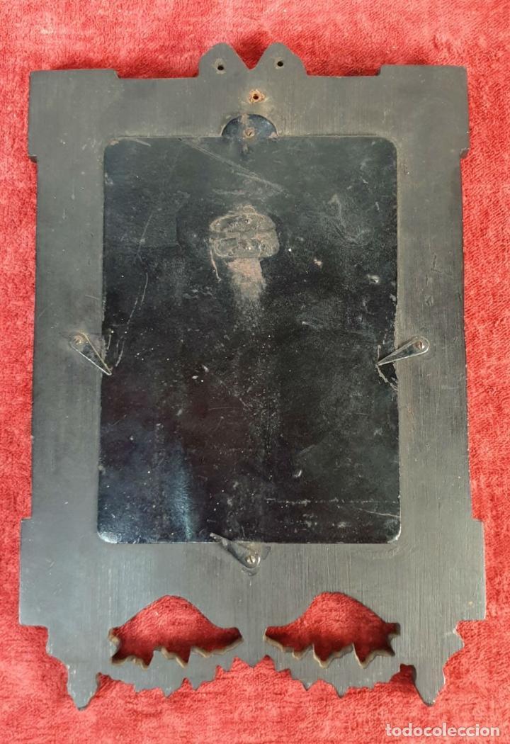 Antigüedades: MARCO PARA FOTOGRAFÍA. RESINA TALLADA. SIGLO XIX-XX. - Foto 2 - 185961220