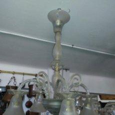 Antigüedades: LAMPARA CRISTAL. Lote 185965943