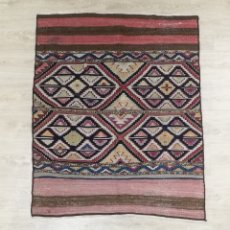 Antigüedades: ALFOMBRA ALFORJA KELIM ORIGEN IRAN KERMANSHAH CULTURA SAHNEH. Lote 185967535