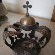 Antigüedades: CORONA VIRGEN ,SELLO MENESES, P. BLANCO.ANTIGUA.. Lote 185969247
