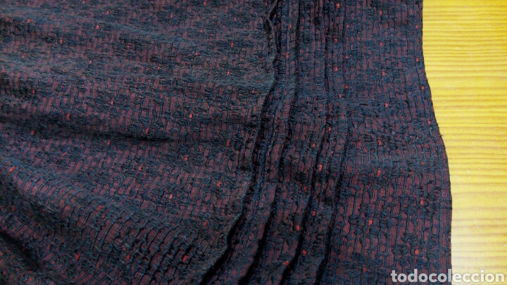Antigüedades: Delantal antiguo de algodon y seda - Foto 2 - 185970140