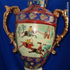 Antigüedades: LAMPARA HECHA DE JARRÓN PORCELANA CHINA, PINTADO A MANO VER FOTOS Y MEDIDAS! SM. Lote 185977320
