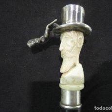 Antigüedades: CURIOSO BASTON CABALLERO DANDY. Lote 185995206