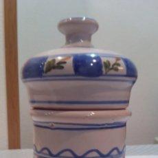 Antigüedades: ANTIGUO BOTE DE CERÁMICA DEL S.XIX LARIO. Lote 186015342