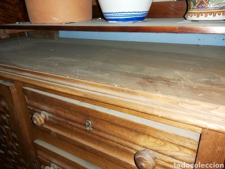Antigüedades: Aparador provenzal en madera de roble para restaurar. - Foto 6 - 57442003