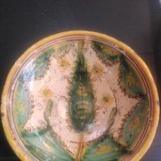 Antigüedades: PUENTE DE ARZOBISPO, PRECIOSO PLATO HONDO SÍGLO XVIII SERIE PINOS 31 CM DIÁMETRO. Lote 186022432