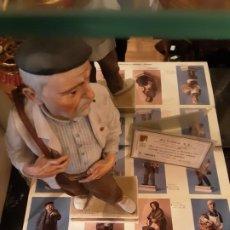 Antigüedades: BARQUILLERO-PORCELANA ALGORA OFICIOS SERIE LIMITADA CON CERTIFICADO. Lote 186024965