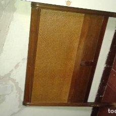 Antigüedades: CAMA COMPLETA O CABECERO ROBLE Y REJILLA. Lote 186041515