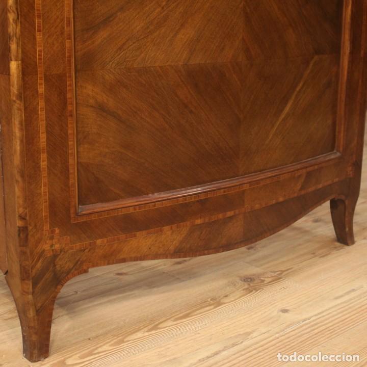 Antigüedades: Cama individual italiana en estilo Luis XV en madera con incrustaciones - Foto 5 - 186048207