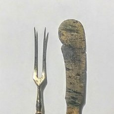 Antigüedades: ANTIGUOS CUBIERTOS DE SERVIR, EN PLATA.. Lote 186088958