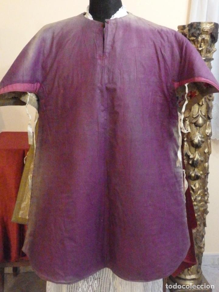 Antigüedades: Pareja de dalmáticas confeccionadas en seda brocada con oro y otras sedas. S. XIX. - Foto 28 - 183208772