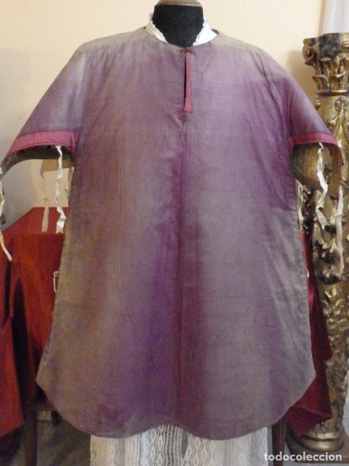 Antigüedades: Pareja de dalmáticas confeccionadas en seda brocada con oro y otras sedas. S. XIX. - Foto 30 - 183208772