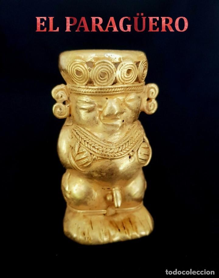 TOTENCO EROTICO PRECOLOMBINA QUIMBAYA DE ORO TUMBAGA PESO 72 GRAM - Nº109 (Antigüedades - Hogar y Decoración - Figuras Antiguas)